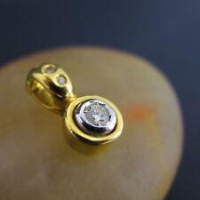 Reinheit VVS Sehr gute Echte Diamanten-Halsketten & -Anhänger aus Gelbgold