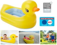 Munchkin White Hot Inflatable Duck Safety Baby kids Bath Tub Travel Beach Park