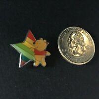 JDS - Rainbow Mini Pooh with Rainbow Star Only RARE HTF Disney Pin 23742