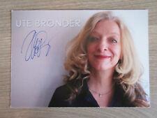 Ute Bronder original handsignierte Autogrammkarte ! TT2