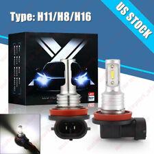 2x H11 H8 H16 LED Fog Light Bulbs For Toyota RAV4 2006-2021 6K White Plug & Play