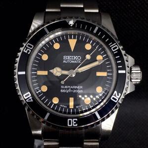 Seiko Mod Submariner Vintage Diver 5513 5517 Milsub SKX NH35 Automatic