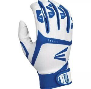Easton Youth Large Gametime Batting Gloves White | Blue NEW