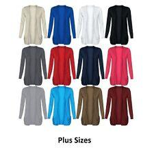 New Women Long Sleeve Boyfriend Open Drop Pocket Cardigan Plus Casual Jumper Top