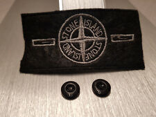 Stone Island Ersatz Patch Badge Silver mit Knöpfe