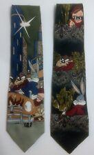 Looney Tunes Bugs Taz Porky... Neck Tie Lot of 2
