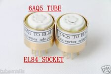 1piece* 6AQ5(adapter top) TO 6P14 EL84 6BQ5  tube converter adapter