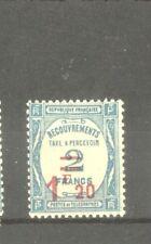 "FRANCE STAMP TIMBRE TAXE N° 64 "" 1F20 SUR 2F BLEU "" NEUF xx TTB"