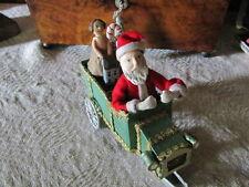 Bethany Lowe Christmas Santa Cardboard Sleigh Car,Doll,Candy Canes,Putz House