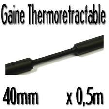 Gaine Thermo Rétractable 2:1 - Diam. 40 mm - Noir - 0,5m