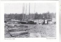 "*Maryland Postcard-""The Pocomoke Shipyard""...early 1900's- *Pocomoke City (3-MD)"