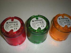 Werma 840-100,200&300 lenses - Red,Green&Amber Stack Lenses - Bulbs not tested