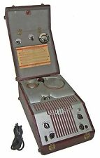 【RARE】40s Webster Chicago 80-1 Wire Recorder/Player-Spool,AC Cord! WORKS GREAT