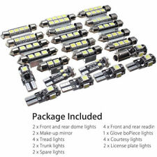 23x LED White Car Inside Light Kit License Plate Compartment Reading Light Set