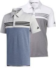 Camisa Polo Golf Adidas Heather bloque nuevo para hombre-Elige Color Y Talla!