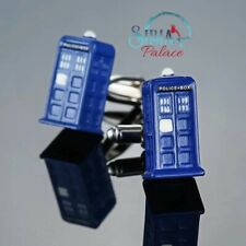 Dr Who Phonebooth Blue Novelty Cufflinks Fashion Men Cuff link Christmas Gift UK