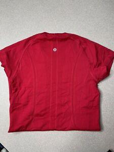 Lululemon Swiftly Tech Short Sleeve Shirt Size 4 Red