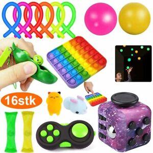 16stk Fidget Toys Sensory Toy Autismus Angst Stressabbau Spielzeug Set Kinder DE