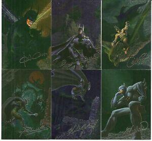 1996 SkyBox Batman MASTER SERIES FANTASY SPECTRA-ETCH card set of 6