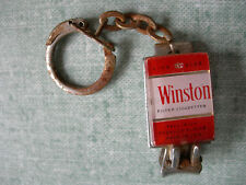 PORTE CLEF A SYSTEME : CIGARETTES WINSTON COUPE ONGLES EN METAL TABAC