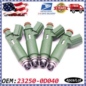 4x New OEM 23250-0D040 Fuel Injectors For Toyota Chevy Prizm Matrix Corolla 1.8L