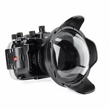 Meikon Waterproof Housing Case 40M 130ft F. Sony A7 A7R A7S II /w Dome Port Lens