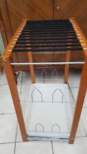 Wooden 12 Pant/4 Shoe Trouser Rack Freestanding Stand Cloth Tray