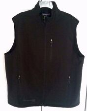Men's Free Country Black Vest Water Resistant Fleece Lined Size XL NWOT