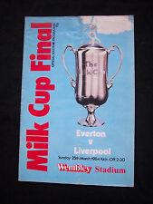 Orig.PRG   ENGLAND  League Cup  1983/84  FINALE   EVERTON FC  - LIVERPOOL FC  !!