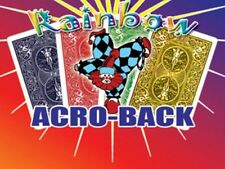 Rainbow Acroback Cards in Bicycle Card Stock! - Watch each card turn face up!
