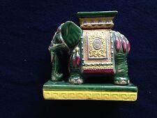 Vintage Asian Porcelain Elephant Figurine Plant Stand