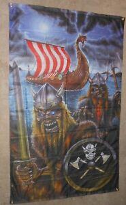 IRON MAIDEN VIKING EDDIE ASATRU ODINIST 5 X 3FT FLAG/BANNER PAGAN NORSE RUNES