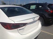 Mazda 3 Sedan Rear Wing Spoiler Primed Factory Style Lip 2014-2018 JSP 368069