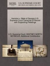 Herndon V. State Of Georgia U.S. Supreme Court Transcript Of Record With Supp...