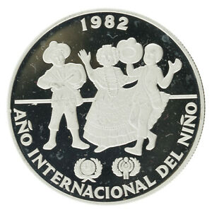 Panama - Silver 10 Balbaos - 'Year of the Child' - 1982 - Proof