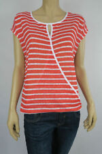 Katies Polyester Short Sleeve Striped Tops & Blouses for Women