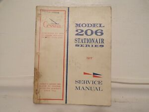Cessna Model  206  Stationair Service Manual 1977
