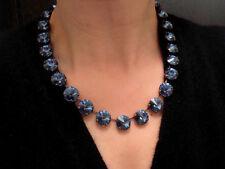 Anna Wintour Swarovski Necklace 14mm Crystal Rivoli Cupchain Choker Collet