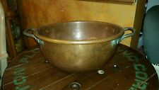 """Antique Large 20"""" Copper Kettle Corn Apple Butter Pot Handcrafted  Rare 20 lbs"""