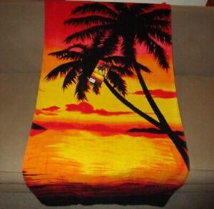 New Orange Red Sky Palm Tree Tropical Island Bath Beach Pool Gift Towel Sunset