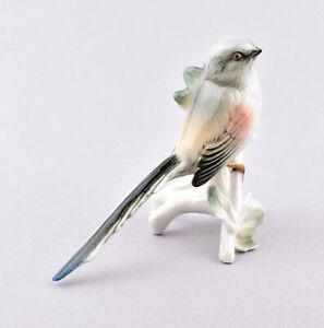 Karl Ens Volkstedt Porcelain Germany, Long Tailed Tit Figurine #7621