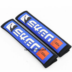 Racing Spoon Black Cotton Seat Belt Cover JDM Shoulder Strap Pads for Honda Car