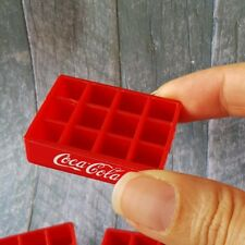 1x COCA-COLA COKE Crate Tray Dollhouse Miniature Vintage Wholesale Mini Set New