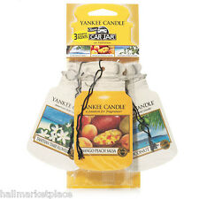 Yankee Candle Car Jar 3 Pack Tahitian Tiare Flower Coconut Bay Mango Peach Salsa