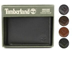 💯Timberland Men's Genuine Leather Wallet Bifold Credit Card ID Billfold for Men