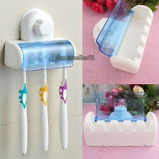 1pcs Plastique couvert 5 Set Brosse à dents Spinbrush Holder aspiration nouvelle