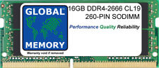 16GB (1x16GB) DDR4 2666MHz PC4-21300 260-PIN SODIMM MEMORY FOR LAPTOPS/NOTEBOOKS