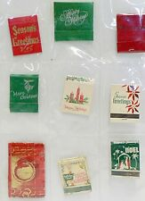 LOT OF 9 MATCH BOOK COVERS ADVERTISING CHRISTMAS