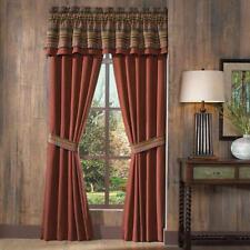 CROSCILL HORIZONS Curtain Panel Pole Top Pair & Tiebacks 82 X 84 NEW