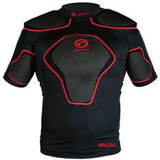 Optimum Origin Rugby Body Protection Shoulder Pads Black Red